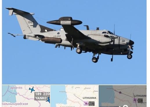 Разузнавателен самолет на САЩ е забелязан до границите на Русия